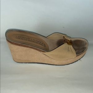 Women's mule cork wedge slides by Donald Pliner 7M